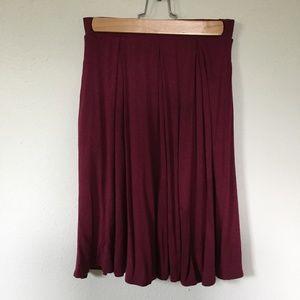 LuLaRoe Madison Skirt, Maroon, Size XS